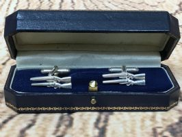 Holland and Holland silver shotgun cufflinks